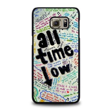 all time low colour samsung galaxy s6 edge plus case cover  number 1