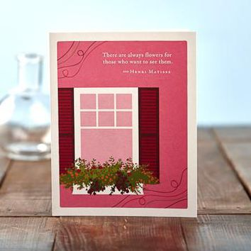 There Are Always Flowers, A Positively Green Mother's Day Card