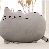 40*30cm Plush Toys Animal Doll Without PP Cotton Talking Animal Toy Pusheen Cat For Girl Kid Kawaii Cute Pillow Brinquedos