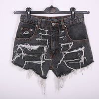 GRUNGE Vintage 90s Shorts Destroyed DIY Cut Off by SORUTHLESS