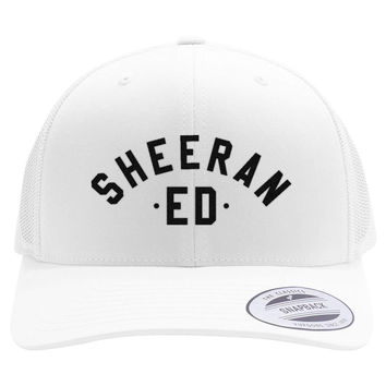 Ed Sheeran The A Team Embroidered Retro Embroidered Trucker Hat