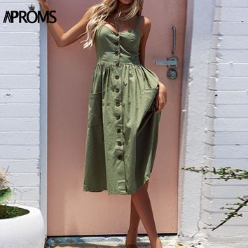Aproms 27Patterns Print Midi Dress Plus Size Casual V Neck Slim Boho Dress Women Vestido High Wasit Summer Dress Sundresses