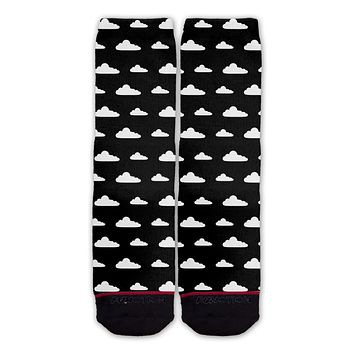 Function - Black All Over Clouds Pattern Sock