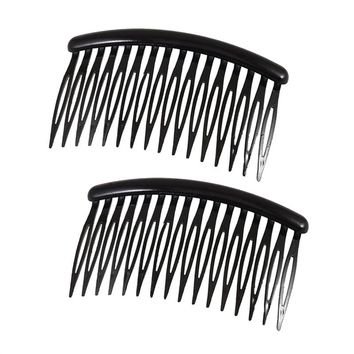 2pcs Women's Girls 16-teeth Plastic Hair Comb / Hair Clip / Hair Pin / Hair Accesories