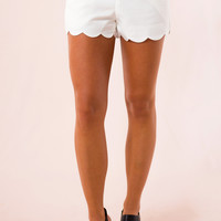 Key West Scalloped Shorts in White