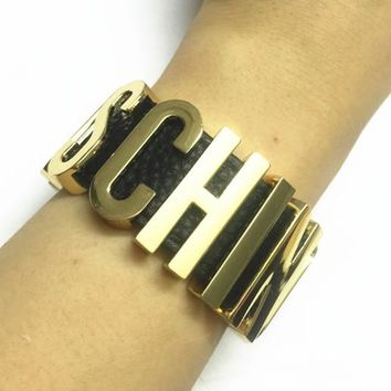 12 colors Cosplay  Handmade named Transparent innitial letter bangle ,luxury brand jewelry alphabet bracelets with PU leather