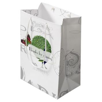 Vintage Paris Themed Wedding Party Personalized Medium Gift Bag