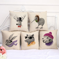 Animal Cotton Pillow Covers