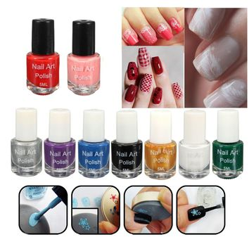 2018 New Nail Polish Oil Stamping 5ml Polish Acrylic Gel Tip  Dedicated Authentic Sticker Nail Art Printing Polish