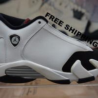 "Air Jordan Retro 14 ""Black Toe""  Basketball Sneaker  AJ14"