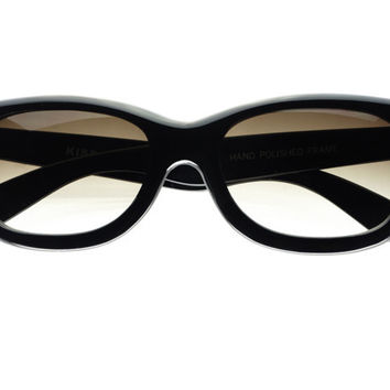 Stylish Sleek Rectangular Sunglasses Black T241