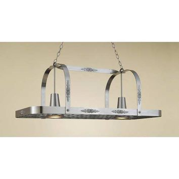 Hi-Lite H-24Y-D-11 Monterey Satin Steel Lighted Pot Rack
