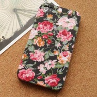 Vintage Floral Garden Fabric Phone Case by Pomelo on Zibbet