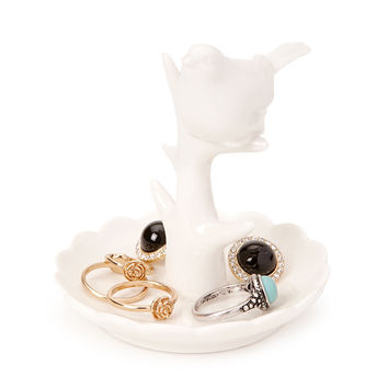 Ceramic Bird Jewelry Holder