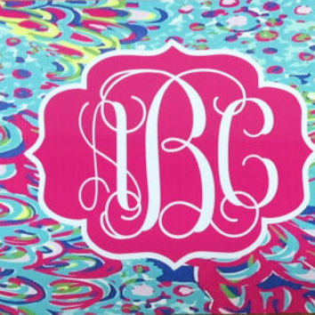 Lilly Pulitzer monogram License Plate lillys lagoon lilly Pulitzer monogram car tag