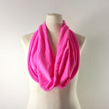 NEON PINK Cowl Neck Scarf - Infinity Scarf - Cotton Scarf - Available in Many Colors