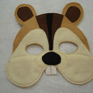 Children's CHIPMUNK Felt Woodland Animal Mask