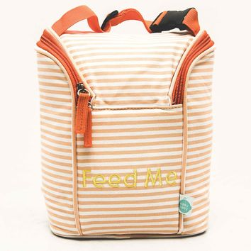 Easy Baby New Orleans Seersucker Style Feed Me Insulated Bottle Bag Traveler
