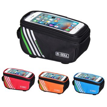 1.5L Bicycle Mobile Phone bag Cycling MTB Road Bike Frame Front Tube Bag Waterproof Phone Bag Multifunction Bicycle Panniers