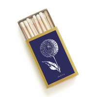 Dahlia Botanical Matchbox - Floral Print Matches - Pair with a Candle - Tiny Gift - Wedding Matchbox Favors - Light a Summer Spark