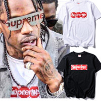 """""""SUPREME""""Printed cotton T-shirt sweethearts outfit"""
