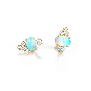 14kt Gold Diamond Sundae Studs