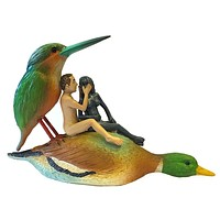 Couple on Duck Seduction Sin Statue Fantasy Garden Earthly Delights by Bosch 5.9W