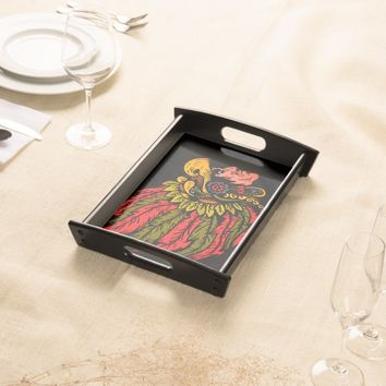 Indian Chieftain head illustration Serving Tray