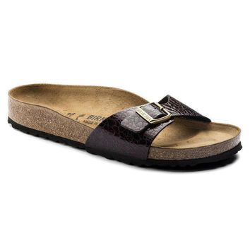 Sale Birkenstock Madrid Birko Flor Myda Wine 1006615 Sandals