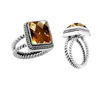 "AR-1040-CT-7"" Sterling Silver Ring With Citrine"