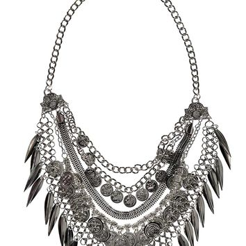 Kelly Leaves and Coins Layered Necklace