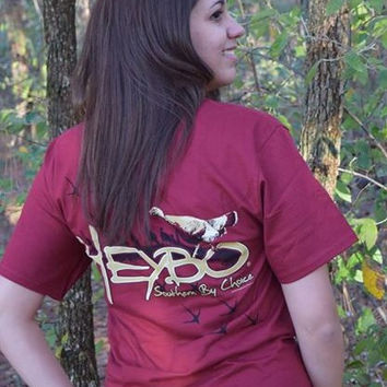 Heybo Turkey Tracks Tee- Red