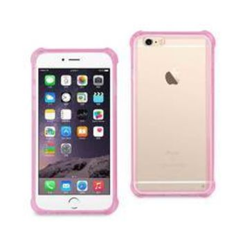 REIKO IPHONE 7 PLUS/ 6S PLUS/ 6 PLUS CLEAR BUMPER CASE WITH AIR CUSHION PROTECTION IN CLEAR HOT PINK
