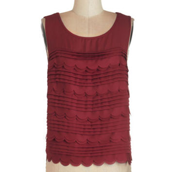 ModCloth Mid-length Sleeveless Cheerful Cavorting Top