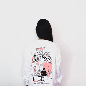 20% OFF Ramen friends VS Squiddie pirates sweatshirt SIZE S