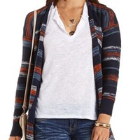 Marled Stripe Cardigan Sweater by Charlotte Russe