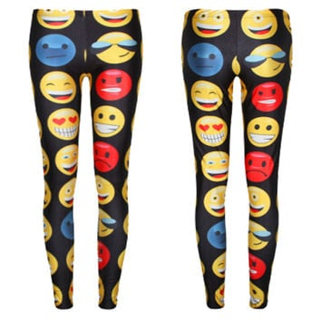 F456 New Emoji Jogger Pants Women/Men/Girl/Boy Leggings Cartoon Outfit Clothes Trousers