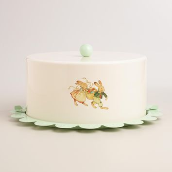 Nestler Bunny Scalloped Cake Carrier