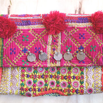 Fairlight Embroidery Purse Handmade Bohemian Ethnic Clutch Purse