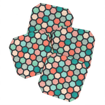 Jacqueline Maldonado Hexagon 1 Coaster Set