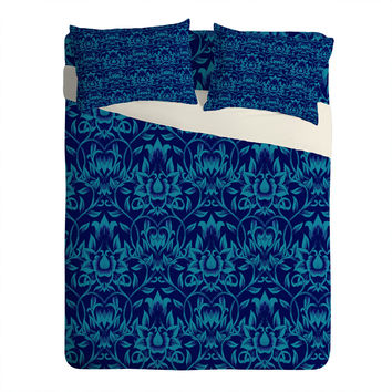 Aimee St Hill Vine Blue Sheet Set Lightweight