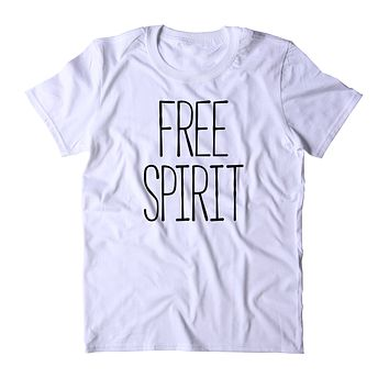 Free Spirit Shirt Hippie Bohemian Boho Soul Traveler Clothing Tumblr T-shirt