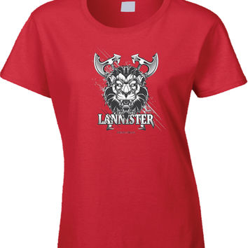 Game Of Thrones Lanster Hear Me Roar Womens T Shirt