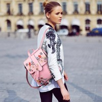Floral Embroidery Backpack/Bag