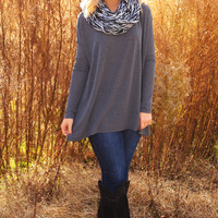 Beneath The Moonlight Top: Gray