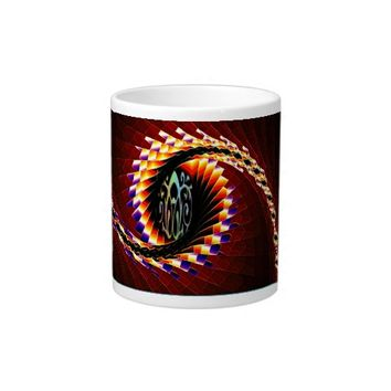 Beautiful fractal art swirl, on jumbo size mug