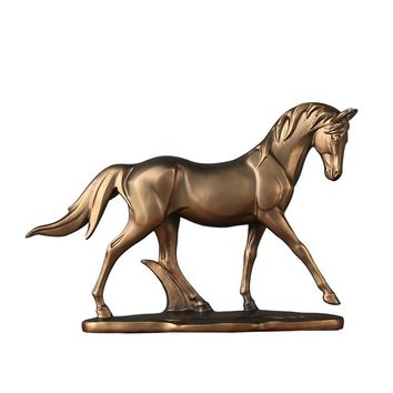 Minimalist Pony Horse Statue Resin Bronco Horse Sculpture Home Decor Year of Birth Gift Craft Adornment Accessories Furnishing