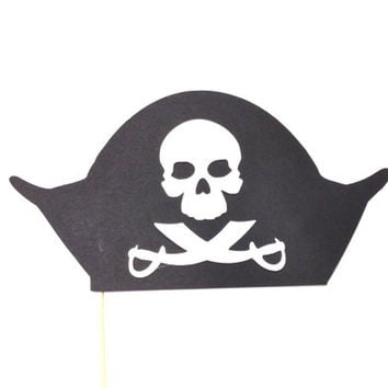 ONE PIRATE HAT Photo Booth Prop Birthday Photobooth Props Wedding Photo Props Photographer Prop Birthday Party Supplies Wedding