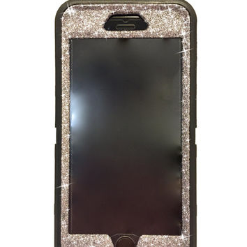 iPhone 6 Plus OtterBox Defender Series Case Glitter Cute Sparkly Bling Defender Series Custom Case  black/ graphite