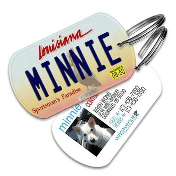 Louisiana License Plate Pet Tag